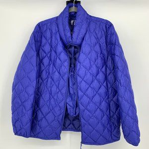 32 Degrees Blue Collapsible Puffer Jacket